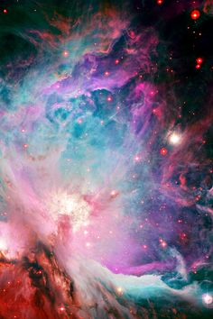 This new image of the Orion Nebula was captured using the Wide Field Imager camera on the MPG/ESO 2.2-metre telescope at the La Silla Observatory, Chile. This image is a composite of several exposures taken through a total of five different filters. Light that passed through a red filter, as well as light from a filter that shows the glowing hydrogen gas, is coloured red. Light in the yellow–green part of the spectrum is coloured green, blue light is coloured blue and light that passed through an ultraviolet filter has been coloured purple. The exposure times were about 52 minutes through each filter. This image is available as a mounted image in the ESOshop.